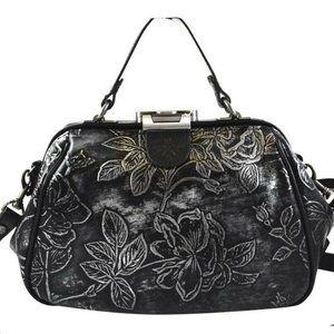 Black Bark GRACCHI Exclusive Handbag/Crossbody Bag